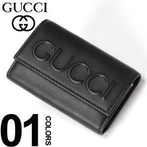 グッチ GUCCI キーケース レザー エンボス ロゴ 6連 ブランド メンズ 鍵入れ GC428781CWLWN|zen