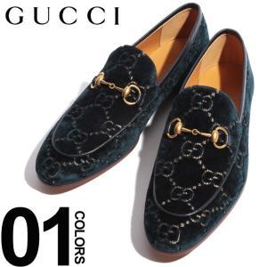 グッチ GUCCI シューズ ビットローファー ベルベット レザー GG柄 ブランド メンズ 革靴 ローファー GC4300889TI90|zen