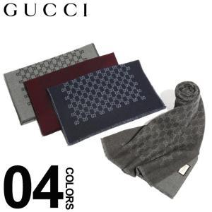 グッチ GUCCI マフラー ウール100% GGパターン ロゴ ブランド メンズ レディース ウール GC3912464G200|zen