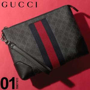 グッチ GUCCI クラッチバッグ GGスプリーム ポーチ ウェブライン ブランド メンズ レディース バッグ 鞄 ストラップ GC526039F2YN|zen