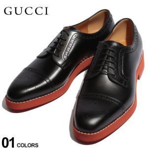 グッチ GUCCI シューズ ストレートチップ メダリオン レザー ブランド メンズ 革靴 本革 レッドブリックソール レンガソール GC575087AZM00|zen