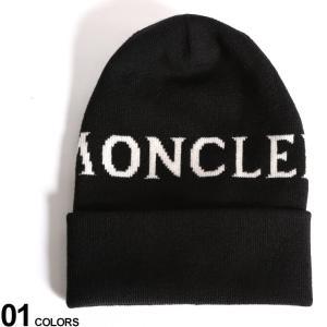 モンクレール ニットキャップ MONCLER ロゴ ウール ニット帽 ブランド メンズ レディース 帽子 MCL9962700A9062|zen