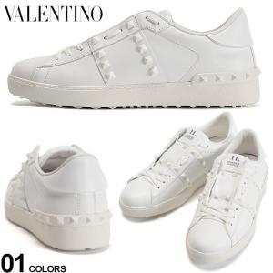 ヴァレンティノ メンズ スニーカー VALENTINO レザー スタッズ ローカット ROCKSTUD UNTITLED ホワイト ブランド シューズ 靴 白スニーカー VLTY2S0931|zen