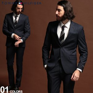 トミーヒルフィガー メンズ スーツ TOMMY HILFIGER ストレッチ マイクロピンチェック シングル 2ツ釦 2B ブランド ノータック TMLWNN2ASB0116 zen