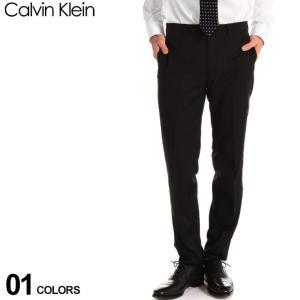 カルバン クライン CK メンズ スラックス Calvin Klein ストレッチ ノータック トラウザー パンツ ブランド スリムフィット ブラック CKJERRYJ7Y000|zen