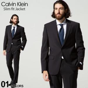 カルバンクライン メンズ ジャケット CK Calvin Klein ストレッチ シングル 2ツ釦 SLIM FIT ブランド  テーラード CKMLBI17NW0002|zen