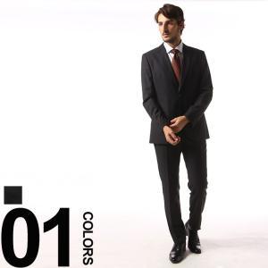 ヒューゴ ボス HUGO BOSS ウール ピンヘッド柄 シングル 2ツ釦 ノータック スーツ HBJL10189126 メンズ ビジネス ブランド