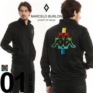 マルセロバーロン MARCELO BURLON KAPPA カッパ コラボ ジャージ ロゴ刺繍 フルジップ トラックジャケット メンズ ブランド MBBD02E18684106 zen