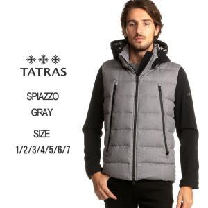 タトラス TATRAS ダウンジャケット フルジップ ダウンブルゾン SPIAZZO スピアッツォ ブランド メンズ アウター ウール パーカー フード TRMTK19A4134 zen