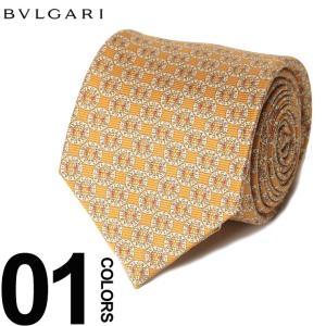 ブルガリ BVLGARI ネクタイ 総ロゴ ブランド メンズ ビジネス タイ シルク BLG243113F8 zen