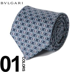 ブルガリ BVLGARI ネクタイ 総ロゴ ブランド メンズ ビジネス タイ シルク BLG243114F8 zen