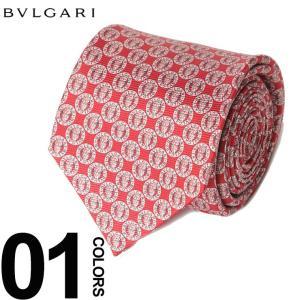 ブルガリ BVLGARI ネクタイ 総ロゴ ブランド メンズ ビジネス タイ シルク BLG243116F8 zen