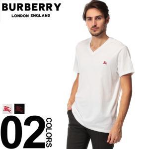 バーバリー BURBERRY Tシャツ 半袖 ロゴ 刺繍 Vネック ブランド メンズ トップス コットン 胸ロゴ BB800383|zen