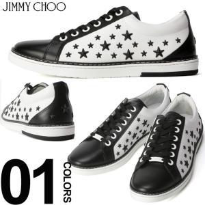 ジミーチュウ JIMMY CHOO スニーカー スタースタッズ CASH ブランド メンズ 靴 シューズ バイカラー レザー モノトーン JCCASHATQ|zen