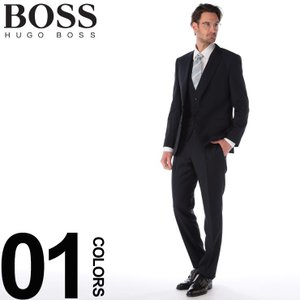 ヒューゴ ボス HUGO BOSS スーツ 3P ウール シングル 2B 2ツ釦 スリーピース 格子 ブランド メンズ ビジネス 3Pスーツ ベスト ジレ ノータック HBHG10215492WE|zen