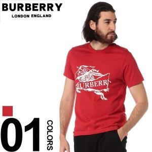 バーバリー BURBERRY Tシャツ 半袖 エクエストリアンナイト ロゴ プリント クルーネック ブランド メンズ トップス BB8007839|zen