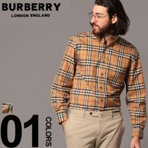 バーバリー BURBERRY シャツ 長袖 バーバリーチェック ボタンダウン ブランド メンズ トップス チェック柄 胸ポケット BB8001236S9|zen