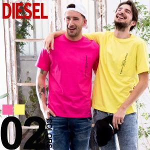 ディーゼル DIESEL Tシャツ 半袖 ロゴ 刺繍 胸ポケット ブランド メンズ トップス クルーネック DSSH13BASU|zen