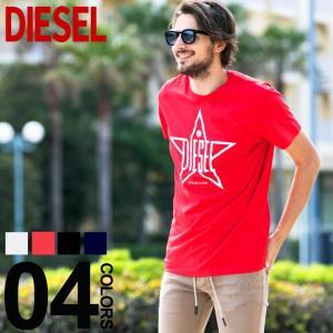 ディーゼル DIESEL Tシャツ 半袖 スター ロゴ プリント ブランド メンズ トップス 星 クルーネック DSSNRE091A zen