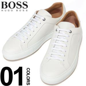 ヒューゴ ボス HUGO BOSS スニーカー レザー ローカット ホワイト ブランド メンズ 靴 シューズ 革 HB50386945|zen