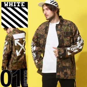 オフホワイト OFF-WHITE フィールドジャケット 迷彩 カバーオール バックプリント DIAG CAMOU ブランド メンズ アウター カモフラ OWEL06S19A66024|zen