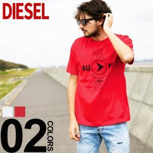 ディーゼル DIESEL Tシャツ 半袖 プリント クルーネック T-JUST-Y2 ブランド メンズ トップス コットン プリントT DSSSPP091A|zen