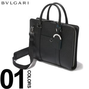 ブルガリ BVLGARI ブリーフケース 2WAY レザー タグストラップ ブリーフバッグ ブランド メンズ ビジネス 鞄 バッグ ショルダー ビジネスバッグ BLG37924S9 zen