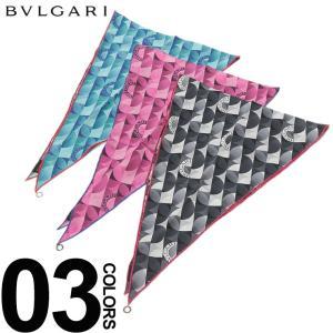 ブルガリ BVLGARI スカーフ シルク100% ロゴ リング チーフ ブランド レディース メンズ シルク BLG24349S9 zen