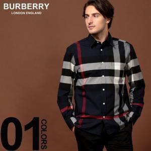 バーバリー BURBERRY シャツ 長袖 ストレッチ コットン メガチェック ブランド メンズ トップス シャツ バーバリーチェック BB8004829F9|zen