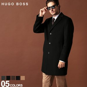 ヒューゴ ボス HUGO BOSS コート チェスター カシミヤ混 ウール シングル ブランド メンズ ビジネスコート カシミア HBSTRA10192381|zen