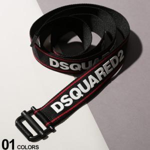 ディースクエアード DSQUARED2 ベルト ロゴ 3D ライン ガチャベルト ブランド メンズ ウェブベルト D2BEM02102020 zen