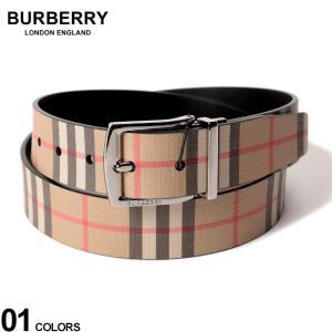 バーバリー BURBERRY ベルト リバーシブル ヴィンテージチェック Eキャンバス レザー ブランド メンズ レザーベルト チェック BB8015613F9|zen