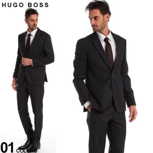 ヒューゴ ボス メンズ スーツ HUGO BOSS ウール マイクロジャガード シングル 2ツ釦 2B グレー ブランド ビジネス ノータック HBRJS10198644 zen