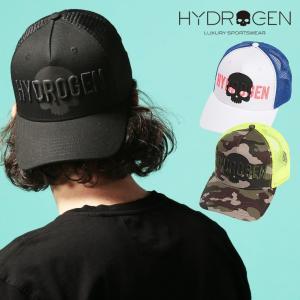 ハイドロゲン メンズ キャップ HYDROGEN ロゴ スカル メッシュ  スナップバック ブランド 帽子 レディース ドクロ HY265900 zen