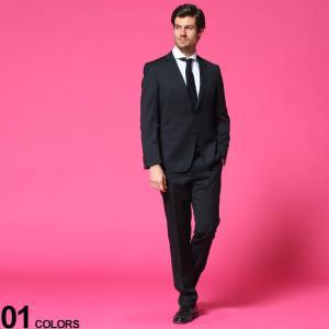 ヒューゴボス HUGO BOSS ウール シングル 2ツ釦 ノータック スーツ SLIM BLACK ブランド メンズ シングルスーツ HBHG10217449P|zen