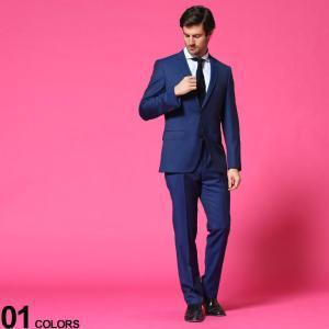 ヒューゴボス HUGO BOSS ウール シングル 2ツ釦 ノータック スーツ SLIM BLUE ブランド メンズ シングルスーツ HBHG10217449P|zen
