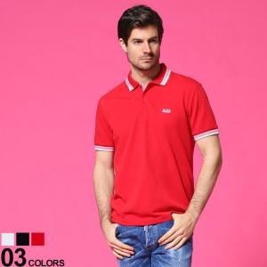 ヒューゴボス HUGO BOSS 衿ライン ワンポイント 半袖 ポロシャツ ブランド メンズ トップス コットン HBPOLO10102943|zen