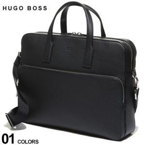 ヒューゴボス バッグ HUGO BOSS 2WAY レザー トート ショルダー ビジネスバッグ ブランド メンズ レザー 鞄 ブリーフケース ブリーフバッグ HBCROSS10202294|zen