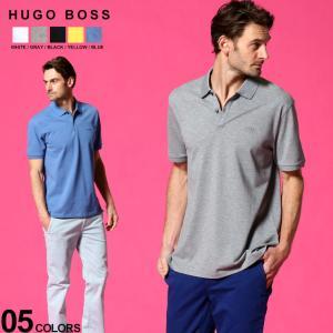 ヒューゴボス メンズ ポロシャツ HUGO BOSS ロゴ 刺繍 半袖 鹿の子 ブランド トップス コットン 半袖 HBPOLO10108581|zen
