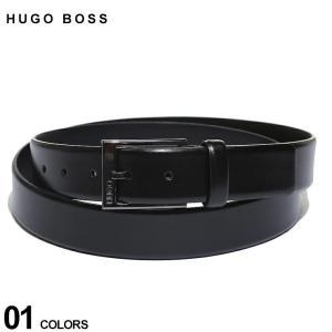 ヒューゴボス ベルト HUGO BOSS レザー レッドステッチ ピンバックル ベルト ブランド メンズ 本革 ビジネス HB50385731|zen