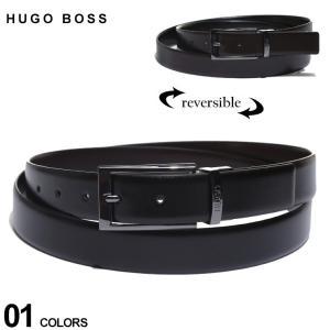 ヒューゴボス ベルト HUGO BOSS リバーシブル レザー ピンバックル ベルト ブランド メンズ 本革 ビジネス HB50307803|zen