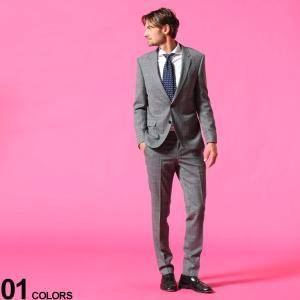 ヒューゴボス メンズ スーツ HUGO BOSS ウール混 グレンチェック シングル 2ツ釦 ノータック SLIM FIT ブランド  ノータック チェック 細身 HBHG10223113C|zen