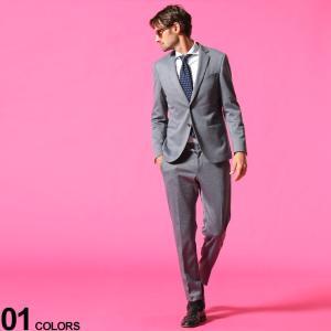 ヒューゴボス メンズ スーツ HUGO BOSS ストレッチ シングル 2ツ釦 ジャケット ストレッチ イージーパンツ ブランド  ジャケット HBNB10233142P|zen