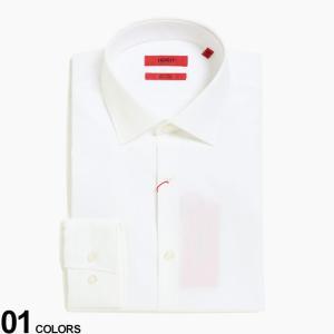 ヒューゴボス メンズ HUGO BOSS 形態安定 ワイドカラー 長袖 ドレスシャツ SLIM ブランド ビジネス ワイシャツ Yシャツ イージーケア HBKENNO10181991|zen