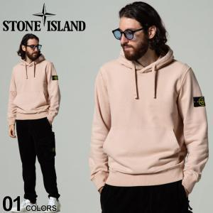 STONE ISLAND ストーンアイランド 裏起毛 ロゴ プルオーバー スウェット パーカー ブランド メンズ トップス SI751564120|zen