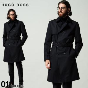 ヒューゴボス メンズ HUGO BOSS 撥水 ダブル トレンチコート ブランド アウター コート ビジネス HBRMALK10236847|zen