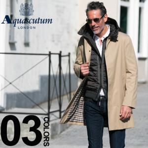 アクアスキュータム ロンドン Aquascutum LONDON 無地 シングル ステンカラー コート AQBROADGATE7S|zen