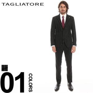 タリアトーレ スーツ TAGLIATORE サキソニー ストライプ シングル 2ツ釦 メンズ ブランド 紳士 ビジネス 縞柄 ウール カシミヤ ノータック TGVS22F45RIA032|zen