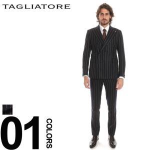 タリアトーレ スーツ TAGLIATORE ストライプ ダブル 6ツ釦 メンズ ブランド 紳士 ビジネス 縞柄 ウール ダブルブレスト ワンタック TGVS20D112RZ215|zen