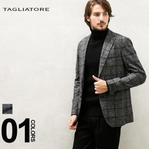 タリアトーレ ジャケット TAGLIATORE ウィンドウペン シングル 2ツ釦 2B メンズ ブランド 紳士 ビジネス アルパカ コットン チェック TGMC22K85WIG029|zen